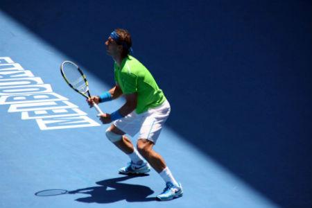 Rafael Nadal injuries himself playing tennis